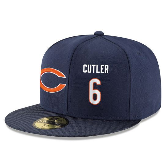 Chicago Bears 6 Cutler Blue NFL Hat