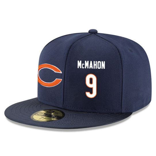 Chicago Bears 9 Mcmahon Blue NFL Hat