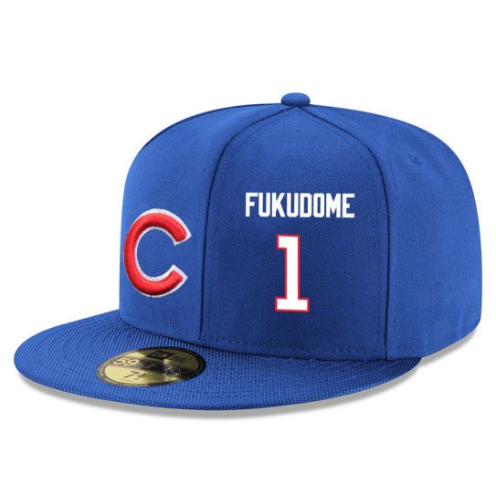 Chicago Cubs 1 Fukudome Blue MLB Hat