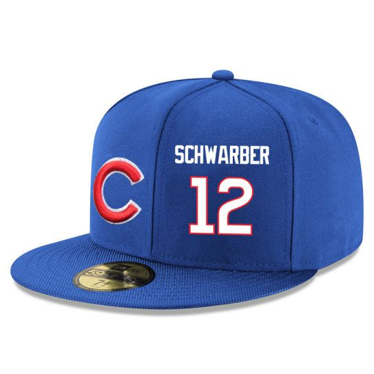 Chicago Cubs 12 Schwarber Blue MLB Hat