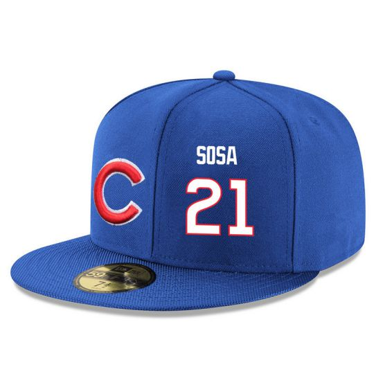 Chicago Cubs 21 Sosa Blue MLB Hat