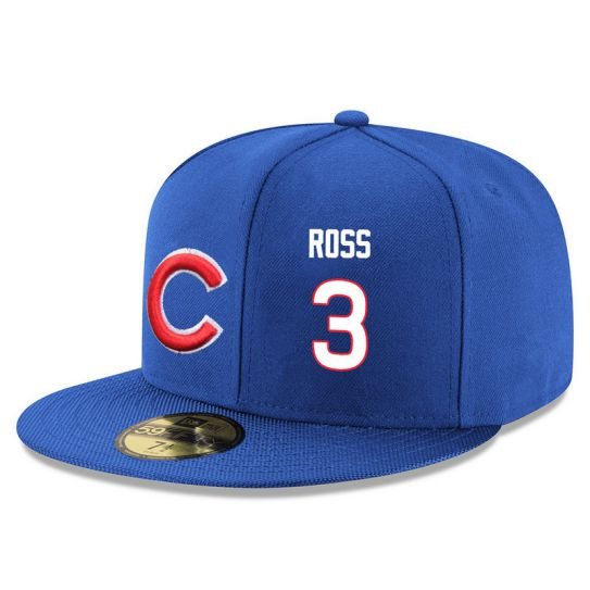 Chicago Cubs 3 Ross Blue MLB Hat