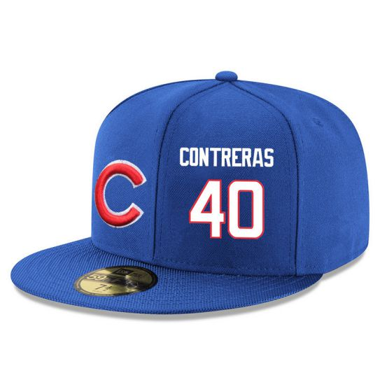 Chicago Cubs 40 Contreras Blue MLB Hat