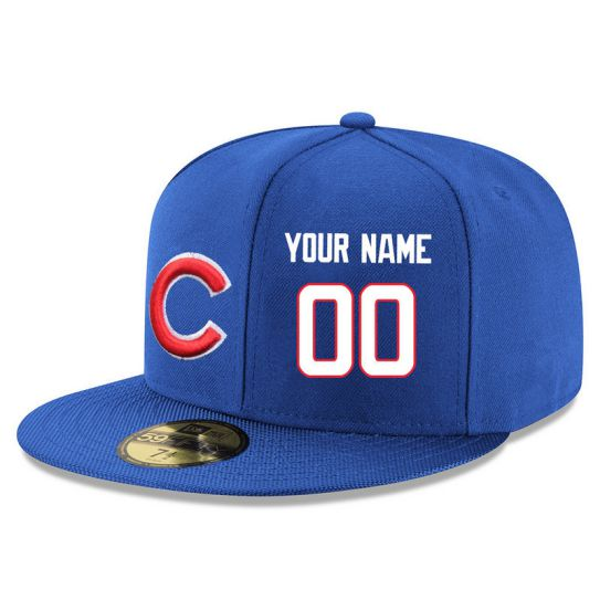 Chicago Cubs Custom Blue MLB Hat