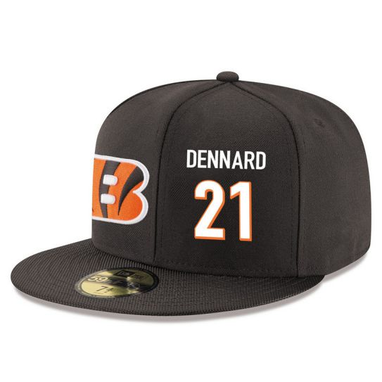 Cincinnati Bengals 21 Dennard Brown NFL Hat