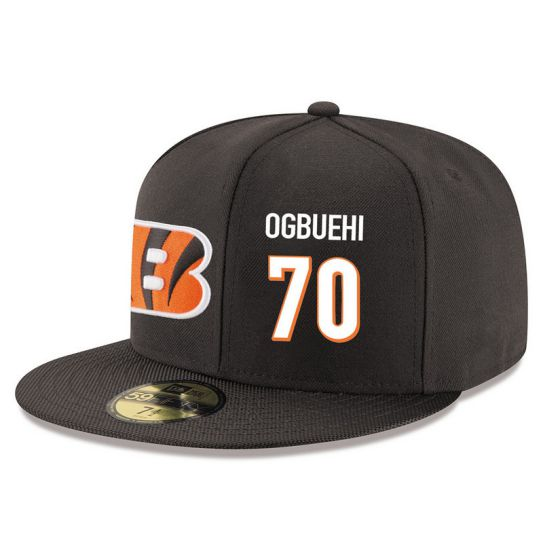 Cincinnati Bengals 70 Ogbuehi Brown NFL Hat
