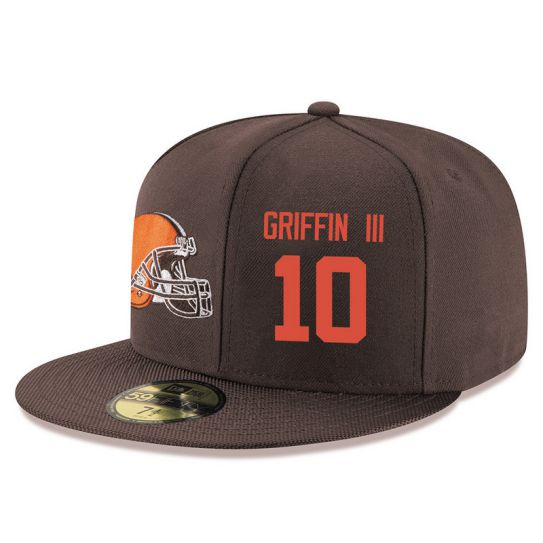 Cleveland Browns 10 Griffin III Brown NFL Hat