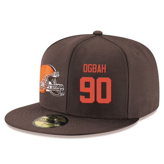 Cleveland Browns 90 Ogbah Brown NFL Hat