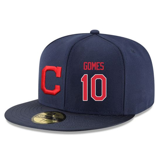 Cleveland Indians 10 Gomes Navy MLB Hat