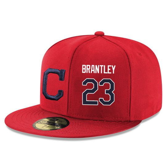 Cleveland Indians 23 Brantley Red MLB Hat