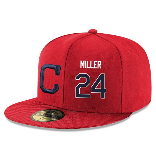 Cleveland Indians 24 Miller Red MLB Hat