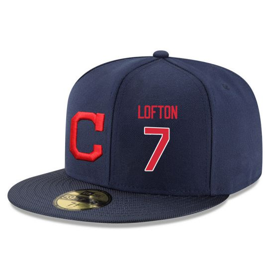 Cleveland Indians 7 Lofton Navy MLB Hat