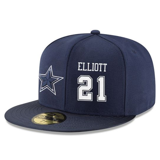 Dallas Cowboys 21 Elliott Blue NFL Hat