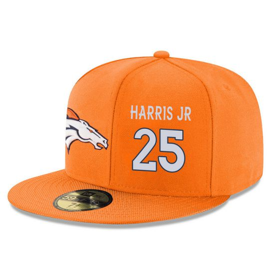 Denver Broncos 25 Harris JR Orange NFL Hat