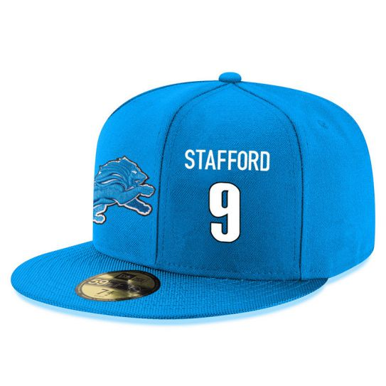 Detroit Lions 9 Stafford Blue NFL Hat