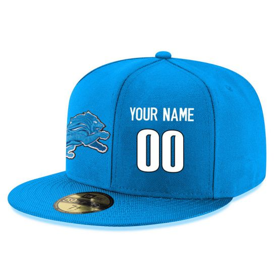 Detroit Lions Custom Blue NFL Hat
