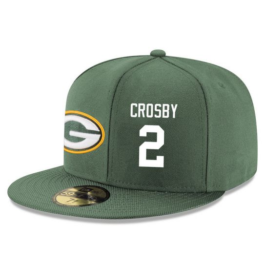 Green Bay Packers 2 Crosby Green NFL Hat
