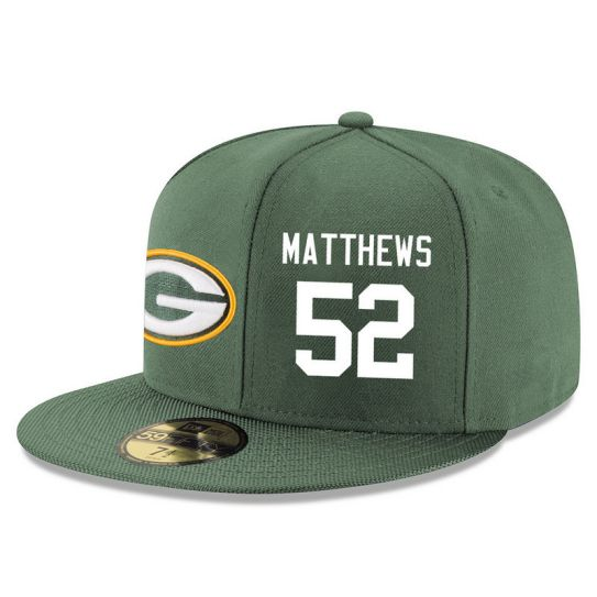 Green Bay Packers 52 Matthews Green NFL Hat