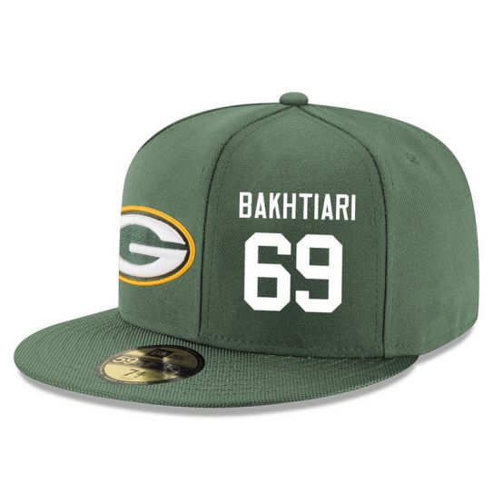 Green Bay Packers 69 Bakhtiari Green NFL Hat
