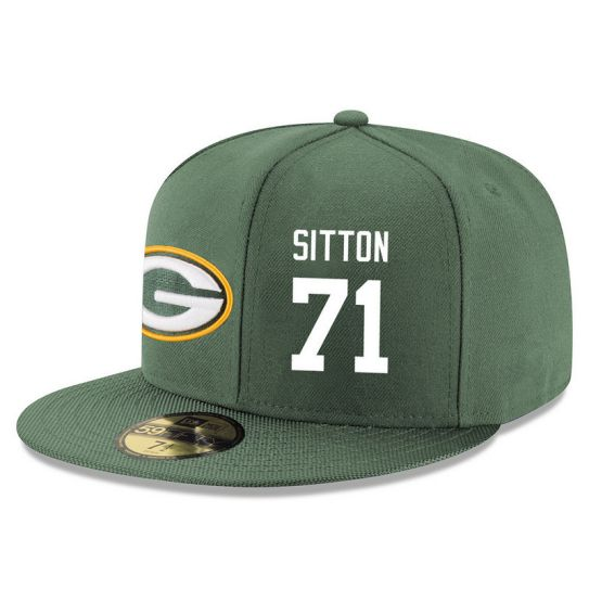 Green Bay Packers 71 Sitton Green NFL Hat