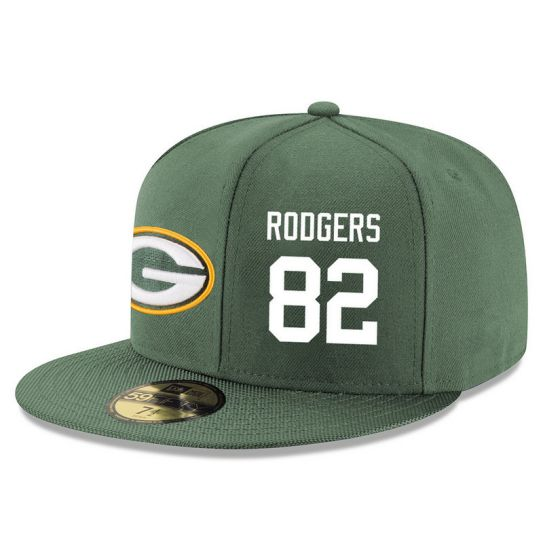 Green Bay Packers 82 Rodgers Green NFL Hat