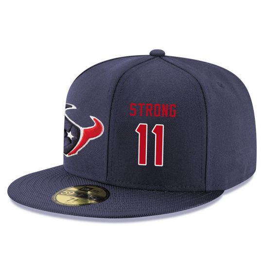 Houston Texans 11 Strong Blue NFL Hat