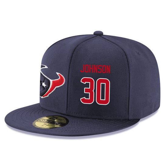 Houston Texans 30 Johnson Blue NFL Hat