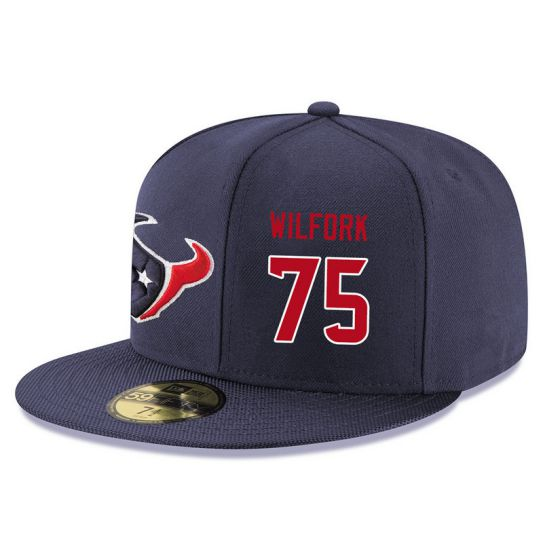 Houston Texans 75 Wilfork Blue NFL Hat