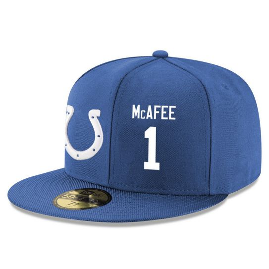 Indianapolis Colts 1 Mcafee Blue NFL Hat