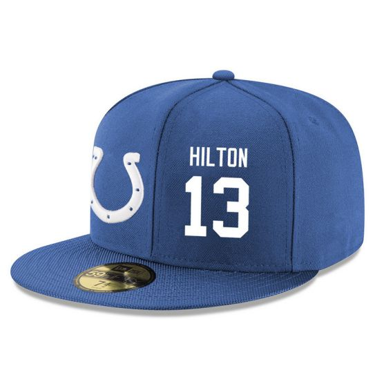 Indianapolis Colts 13 Hilton Blue NFL Hat