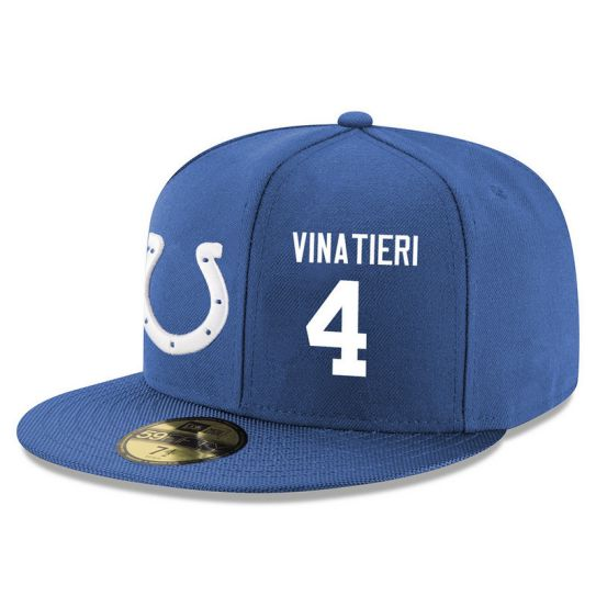 Indianapolis Colts 4 Vinatieri Blue NFL Hat