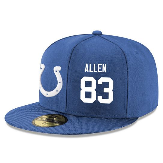 Indianapolis Colts 83 Allen Blue NFL Hat