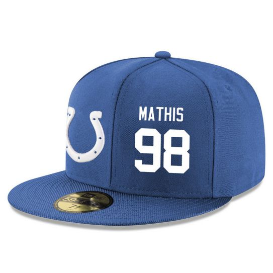Indianapolis Colts 98 Mathis Blue NFL Hat
