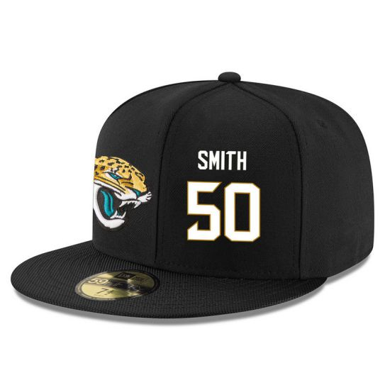 Jacksonville Jaguars 50 Smith Black NFL Hat