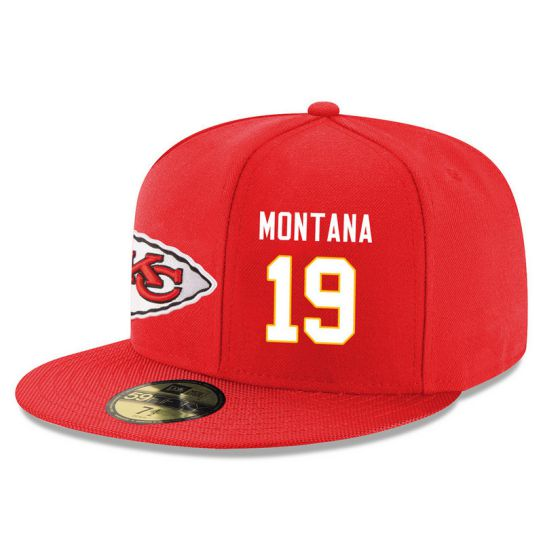 Kansas City Chiefs 19 Montana Red NFL Hat