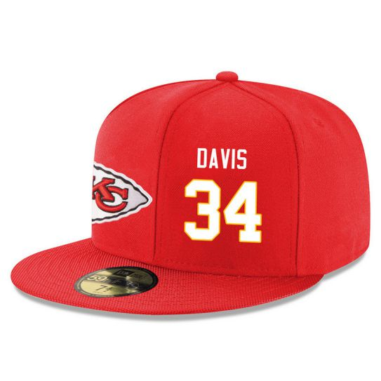 Kansas City Chiefs 34 Davis Red NFL Hat
