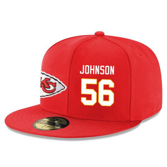 Kansas City Chiefs 56 Johnson Red NFL Hat