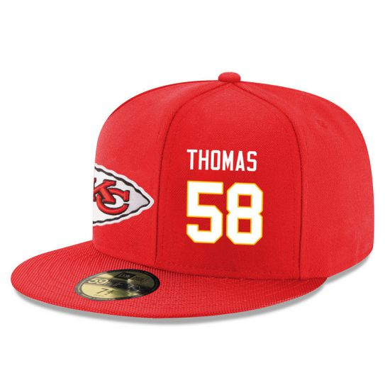 Kansas City Chiefs 58 Thomas Red NFL Hat