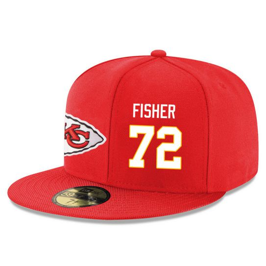 Kansas City Chiefs 72 Fisher Red NFL Hat