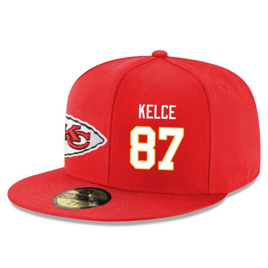 Kansas City Chiefs 87 Kelce Red NFL Hat