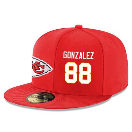 Kansas City Chiefs 88 Gonzalez Red NFL Hat