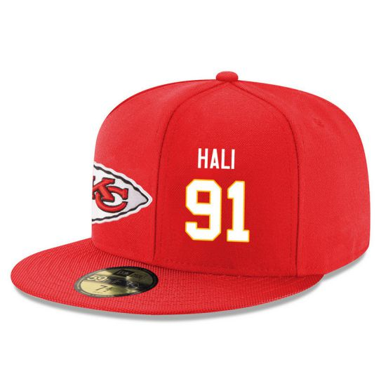 Kansas City Chiefs 91 Hali Red NFL Hat