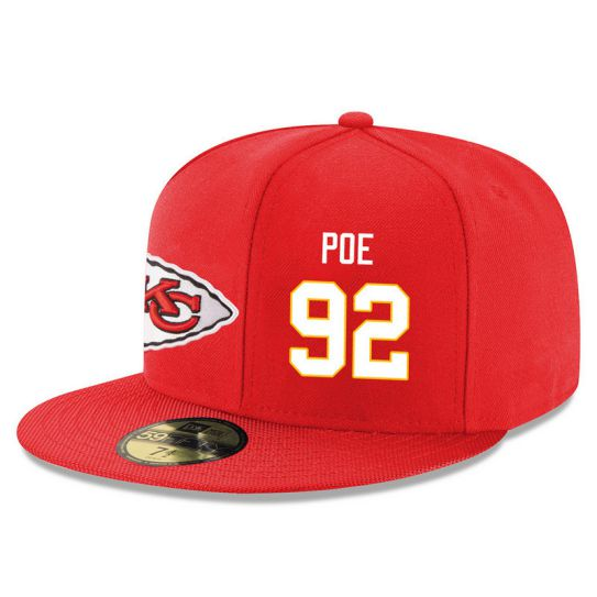 Kansas City Chiefs 92 Poe Red NFL Hat