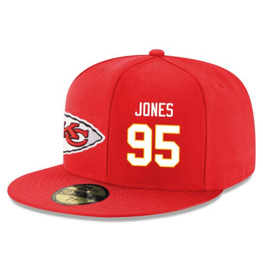 Kansas City Chiefs 95 Jones Red NFL Hat