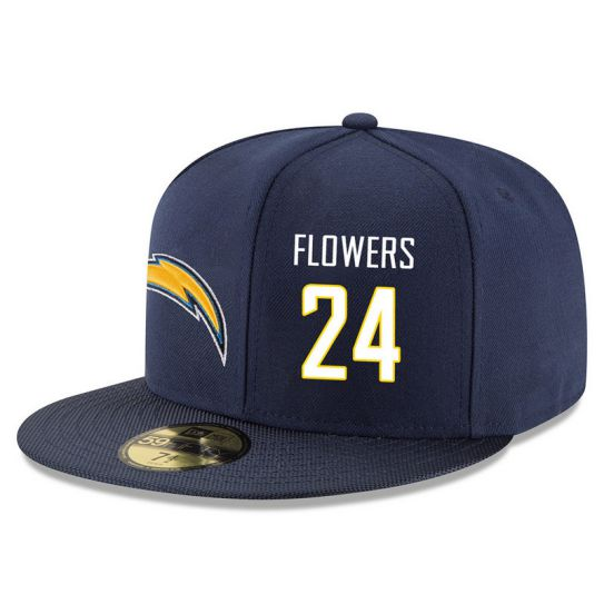 Los Angeles Chargers 24 Flowers Blue NFL Hat