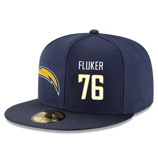 Los Angeles Chargers 76 Fluker Blue NFL Hat