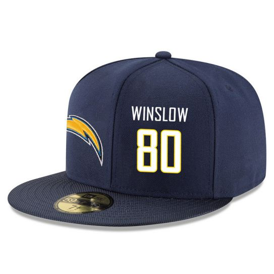 Los Angeles Chargers 80 Winslow Blue NFL Hat