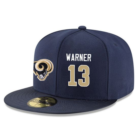 Los Angeles Rams 13 Warner Blue NFL Hat