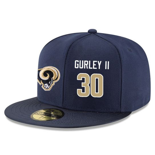 Los Angeles Rams 30 Gurley ii Blue NFL Hat