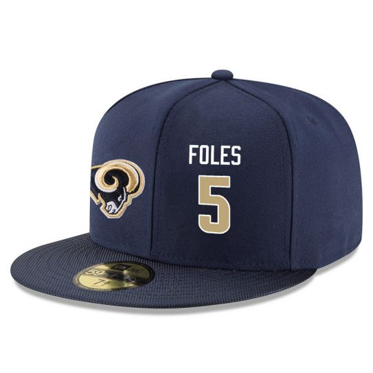 Los Angeles Rams 5 Foles Blue NFL Hat